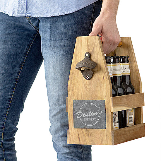 Cathy's Concepts Personalized Beer Carrier with Magnetic Bottle Cap Holder