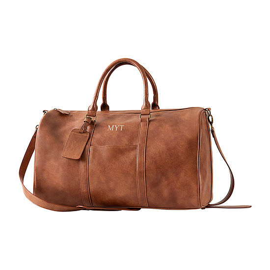 Cathys Concepts Personalized Vegan Leather Duffel Bag