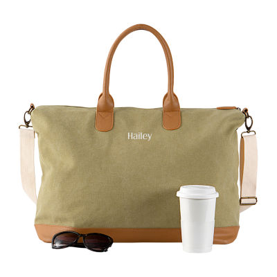 Cathy's Concepts Personalized Washed Canvas Duffel Bag