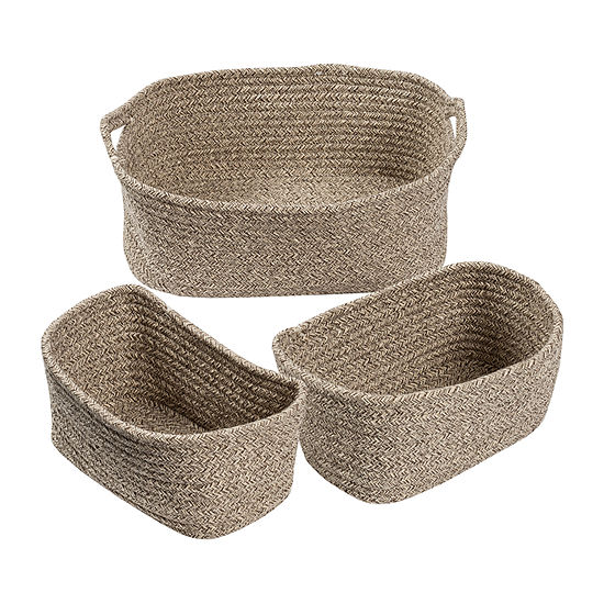 Honey-Can-Do Set of 3 Nested Cotton Baskets with Handles