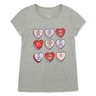 City Streets Girls Scoop Neck Short Sleeve Graphic T-Shirt-Preschool