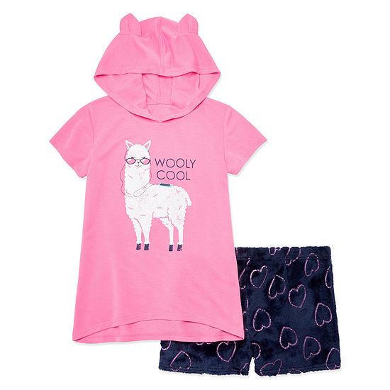 Arizona 2-pc. Llama Short Pajama Set - Big Girls & Plus