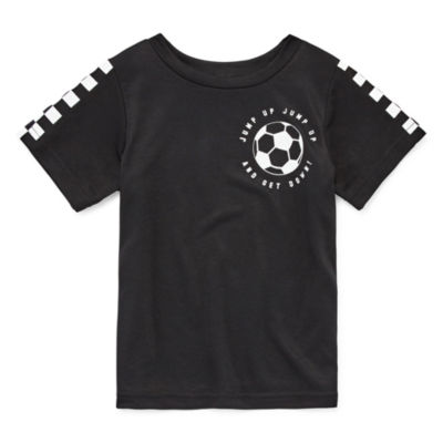 Okie Dokie Crew Neck Short Sleeve Graphic T-Shirt-Toddler Boys