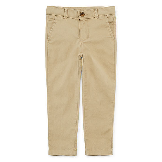 Okie Dokie Boys Straight Flat Front Pant-Toddler