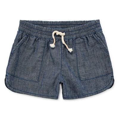 Okie Dokie High Waisted Pull-On Short - Toddler Girls