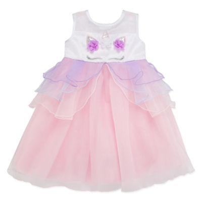 Blueberi Boulevard Sleeveless Party Dress - Toddler Girls
