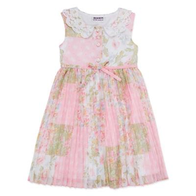 Blueberi Boulevard Sleeveless Skater Dress - Toddler Girls