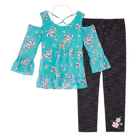 Knit Works Floral Legging Set - Girls' 4-16 & Plus