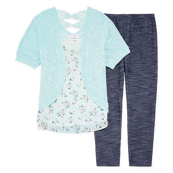 Knitworks Floral Cozy Legging Set - Girls' 4-16 & Plus