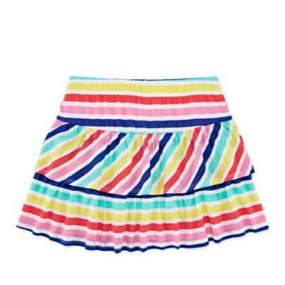 Arizona Knit Stripe Skater Skirt - Girls' 4-16 & Plus