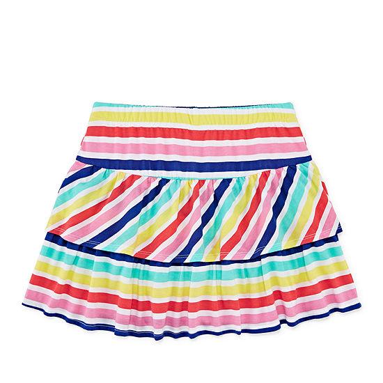 Arizona Knit Stripe Skater Skirt - Girls' 4-16 & Plus