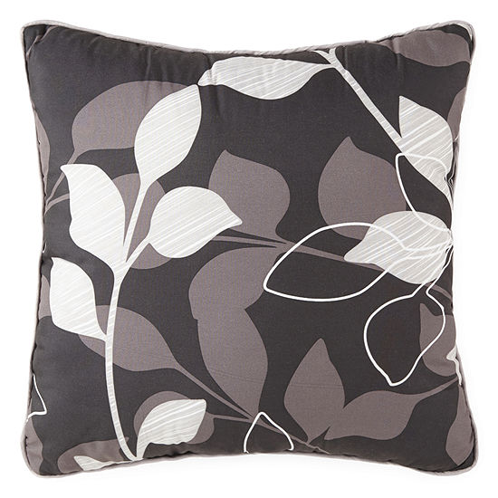 Home Expressions Graphic Leaf Square Throw Pillow