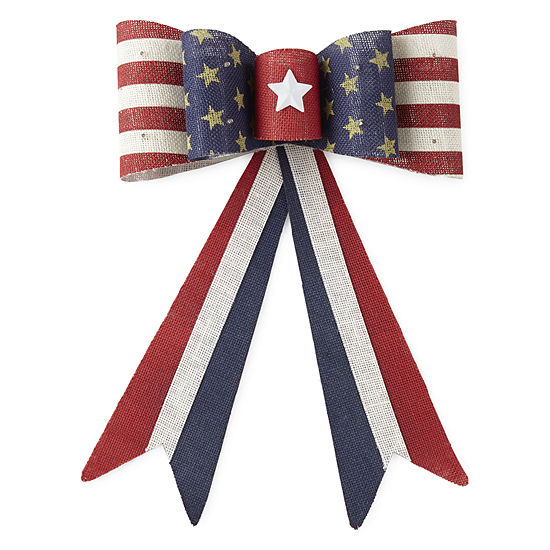 JCPenney Home Americana LED Burlap Bow