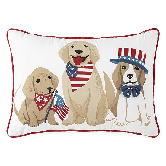 JCPenney Home Americana Dog Throw Pillow