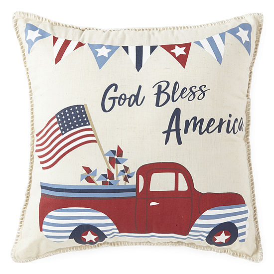 JCPenney Home Americana Vintage Truck Pillow