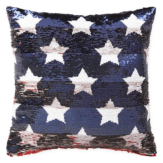 JCPenney Home Stars and Stripes Sequins Throw Pillow