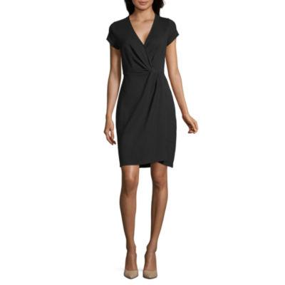 Worthington Short Sleeve Wrap Dress