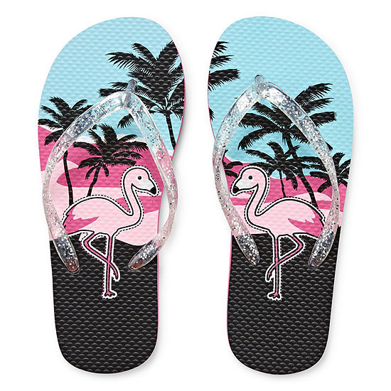 Arizona Flip-Flops - Flamingo Palm Tree