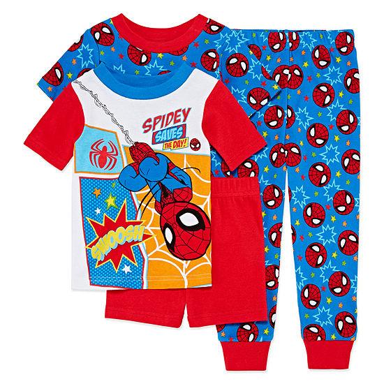 4-pc. Spiderman Pajama Set Toddler Boys