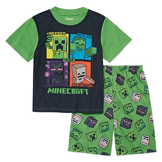 Big Boys 2-pc. Minecraft Shorts Pajama Set