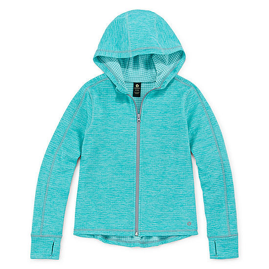 b31d0f118a7 Xersion Full-Zip Fleece Hoodie - Girls  4-16   Plus - JCPenney