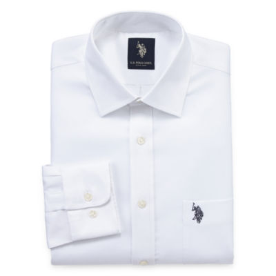 U.S. Polo Assn. Big And Tall Long Sleeve Dobby Dress Shirt