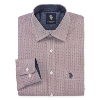 U.S. Polo Assn. Long Sleeve Geo Linear Dress Shirt - Slim
