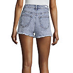 "Almost Famous Womens High Rise 2 1/2"" Denim Short-Juniors"