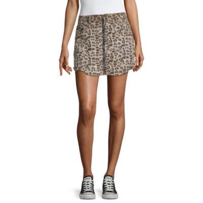 Almost Famous Womens Mid Rise Short Denim Skirt-Juniors