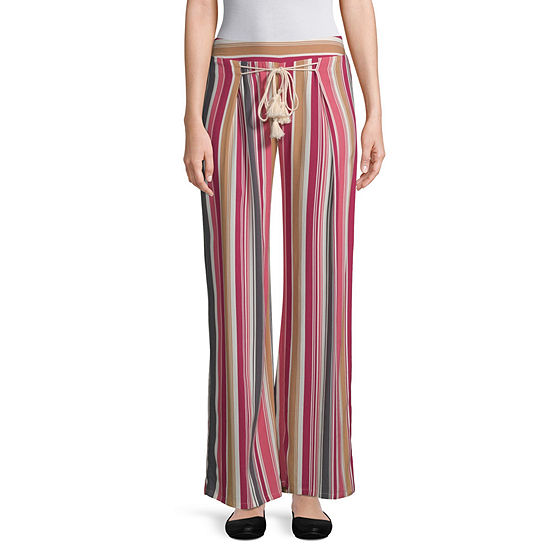 Bebop Womens Low Rise Wide Leg Palazzo Pant-Juniors
