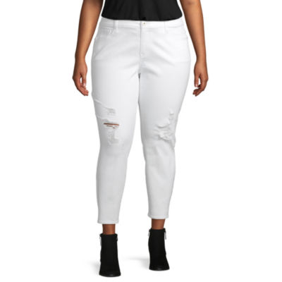 Arizona Womens Mid Rise Ankle Cropped Jean - Juniors Plus