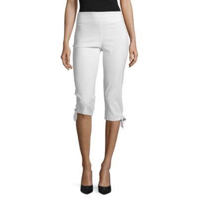 Worthington Womens Mid Rise Slim Pull-On Pants-Petite