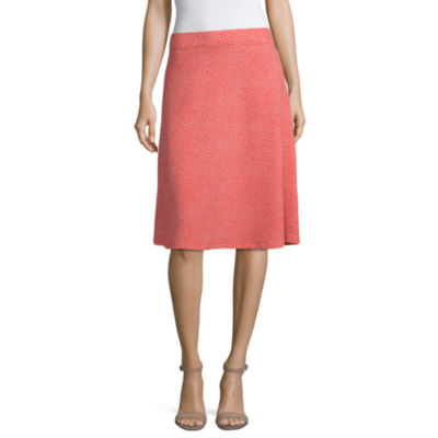 Liz Claiborne Womens Midi Full Skirt