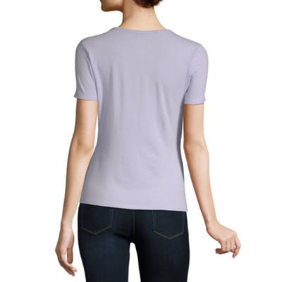 a.n.a Womens Crew Neck Short Sleeve T-Shirt