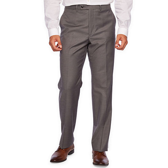 JF J.Ferrar Gray Stretch Sharkskin Suit Separate Classic Fit Stretch Suit Pants