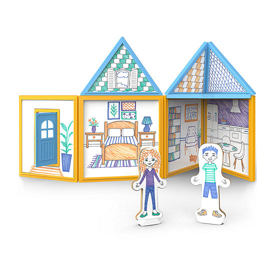Melissa & Doug Magnetivity - Draw & Build House