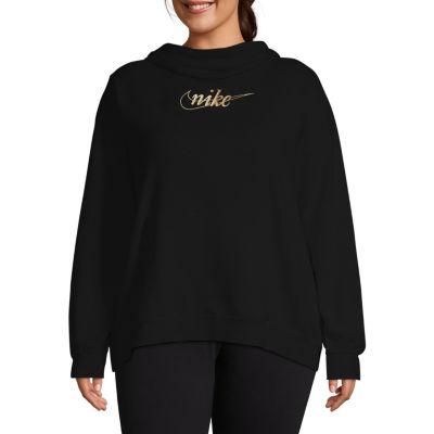 Nike-Plus Womens Long Sleeve Knit Hoodie