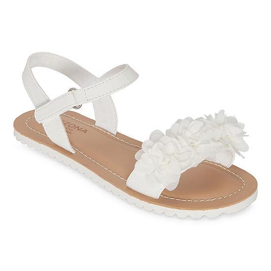 Arizona Big Kids Girls Felicity Slingback Strap Flat Sandals