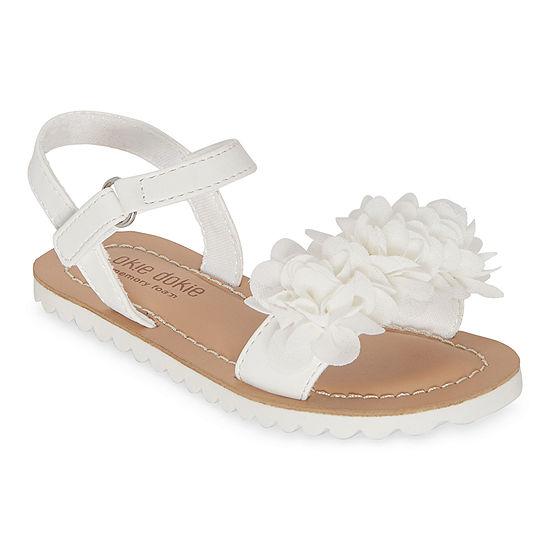 Okie Dokie Toddler Girls Lil Felicity Slingback Strap Flat Sandals