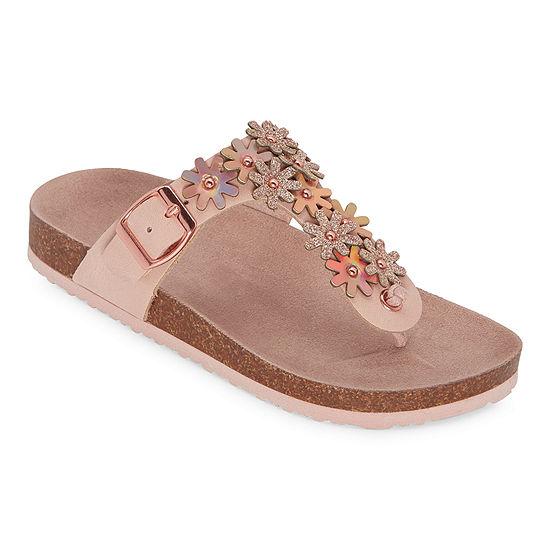 Arizona Malin Girls T-Strap Footbed Sandals