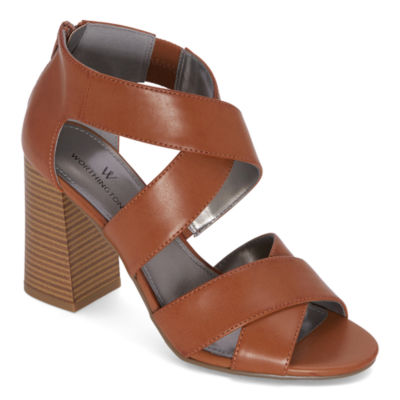 Worthington Womens Bassett Heeled Sandals