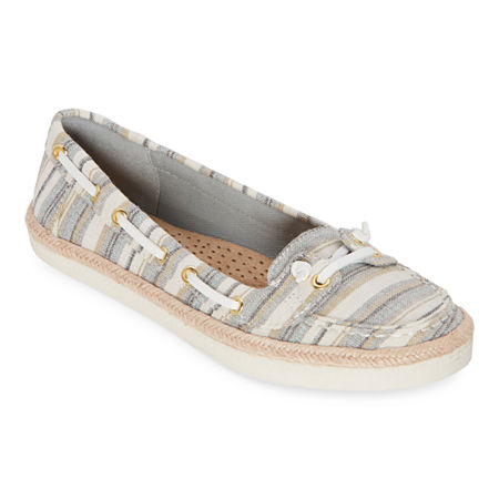 St. John's Bay Womens Payne Slip-On Shoe, 6 Medium, Gray