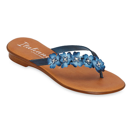 Italiana By Italian Shoemakers Womens Shannie Flat Sandals