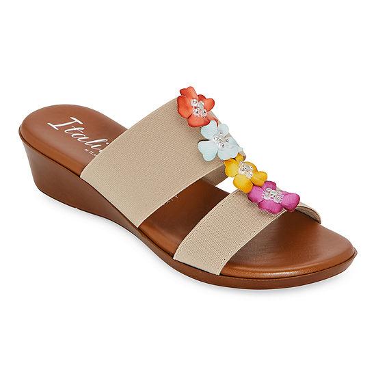 Italiana By Italian Shoemakers Womens Julliet Wedge Sandals