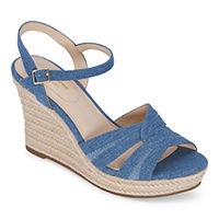 Deals on Liz Claiborne Womens Marias Wedge Sandals