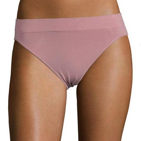 Ambrielle Seamless Knit Thong Panty 11p019, Small , Pink