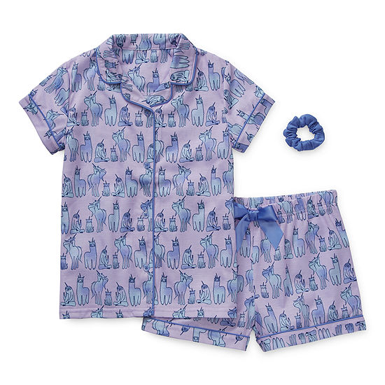 Arizona Little & Big Girls 2-pc. Shorts Pajama Set