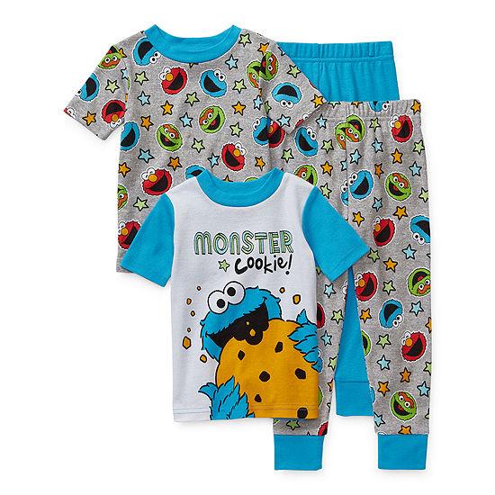 Toddler Boys 4-pc. Sesame Street Pajama Set