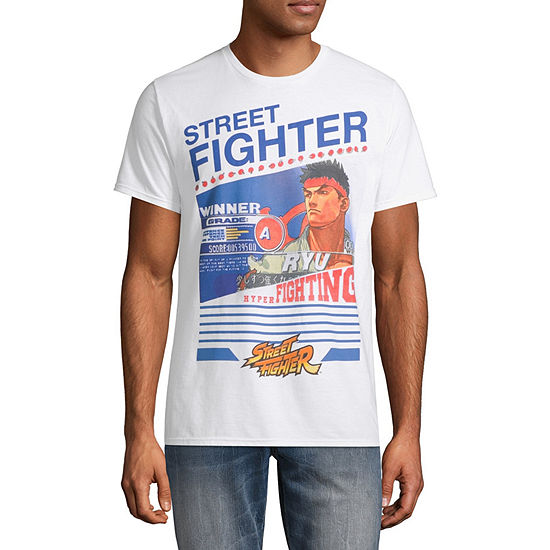 Street Fighter Mens Crew Neck Short Sleeve Marvel Graphic T-Shirt