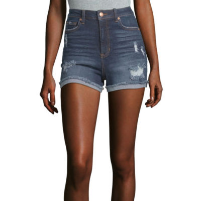 "Vanilla Star Womens High Rise 2 1/2"" Denim Short-Juniors"